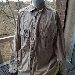 Avirex Shirts - Avirex Flight Garment Buttondown Brown Shirt